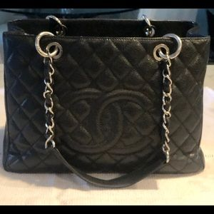 Chanel Classic GST Black Caviar Grand Shopper